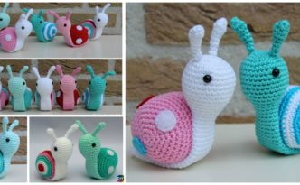 DIY4ever- Super Cute Crochet Snails – Free Pattern