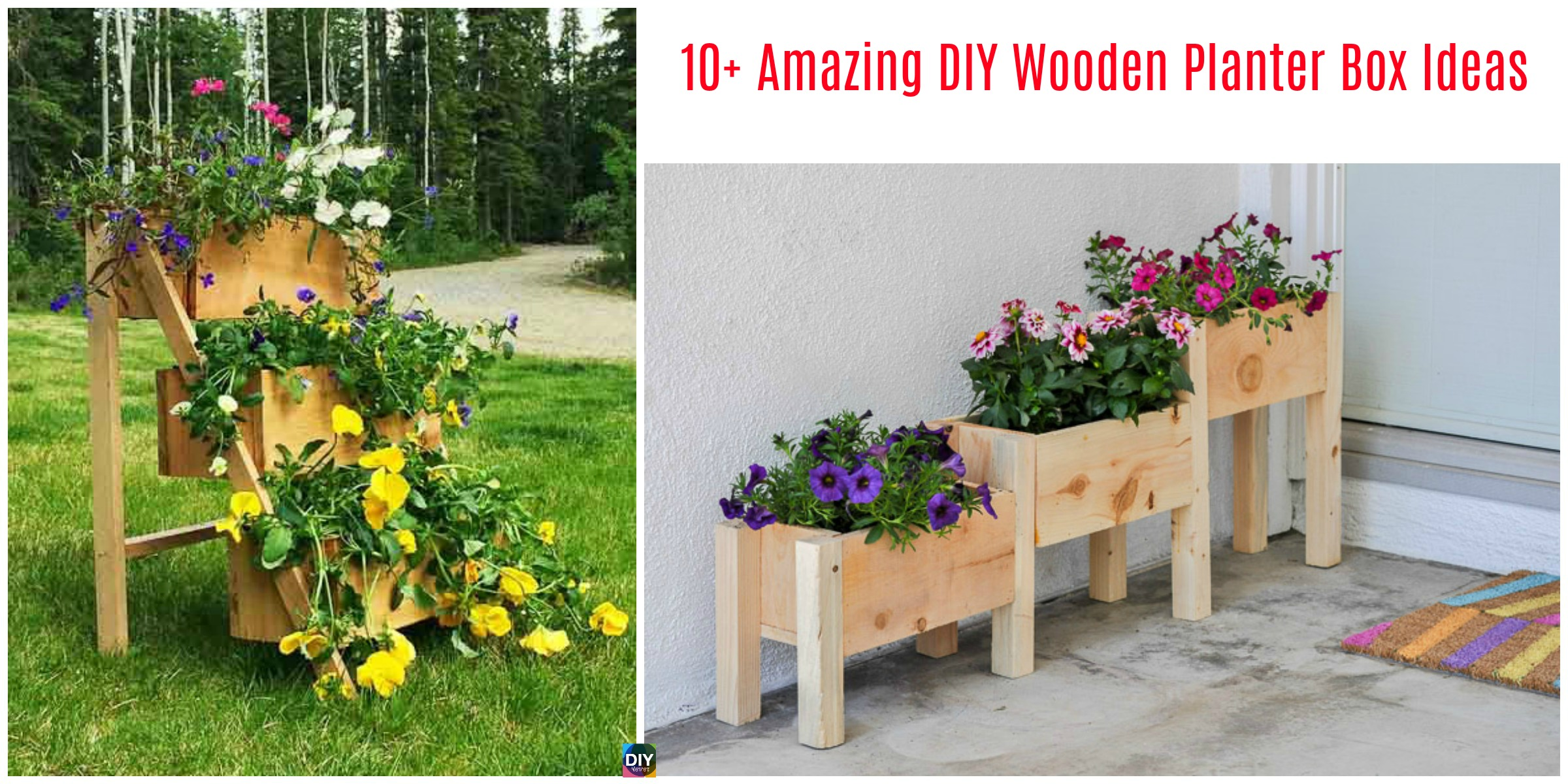 10+ Amazing DIY Wooden Planter Box Ideas