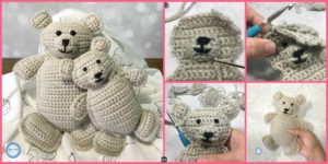 diy4ever- Baby and Me Crochet Bears - Free Pattern