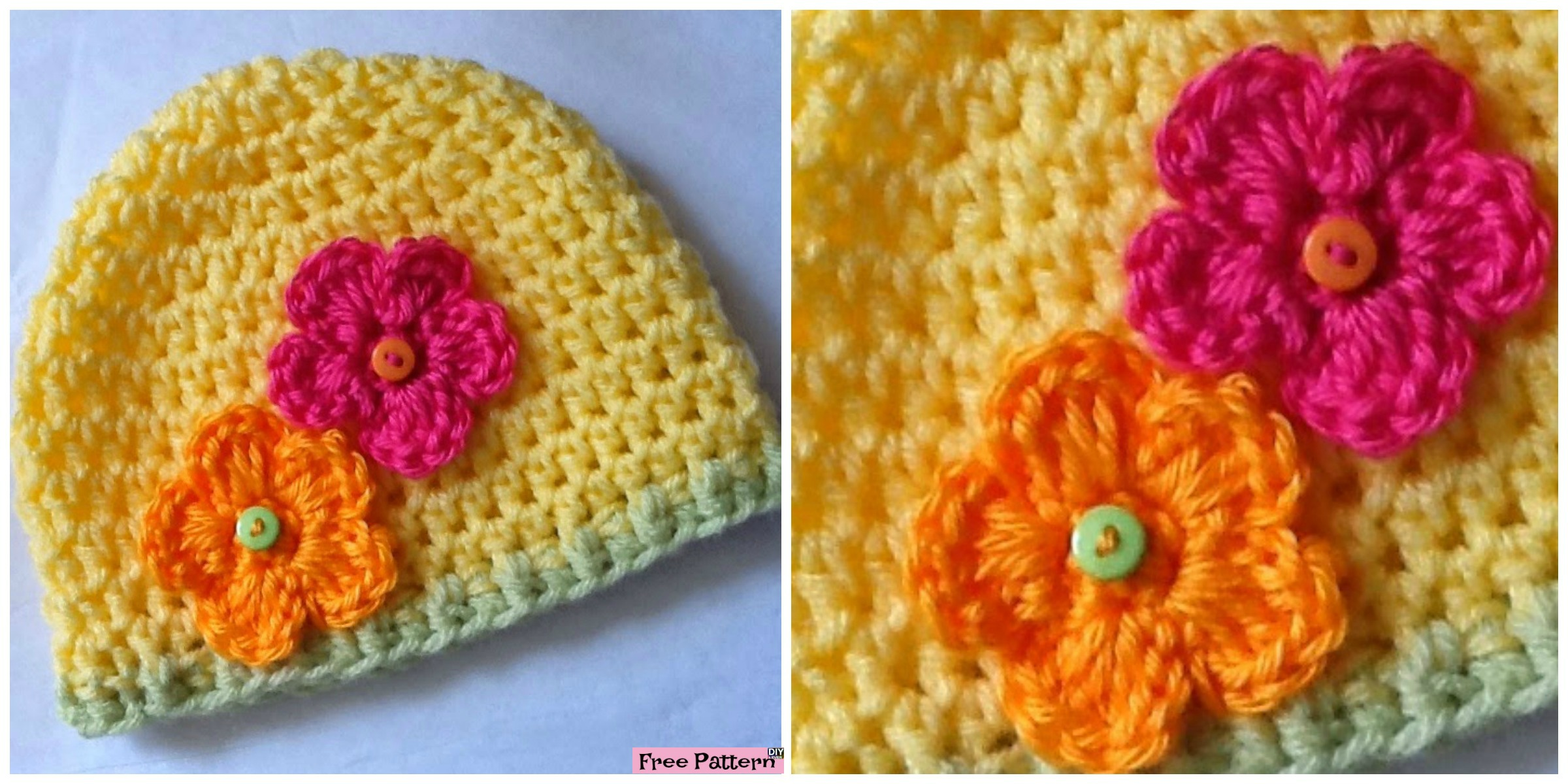 Beautiful Crochet Flower Hats – Free Patterns