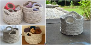 diy4ever- Chunky Crochet Basket - Free Pattern