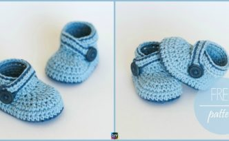 diy4ever- Crochet Blue Whale Baby Booties Free pattern