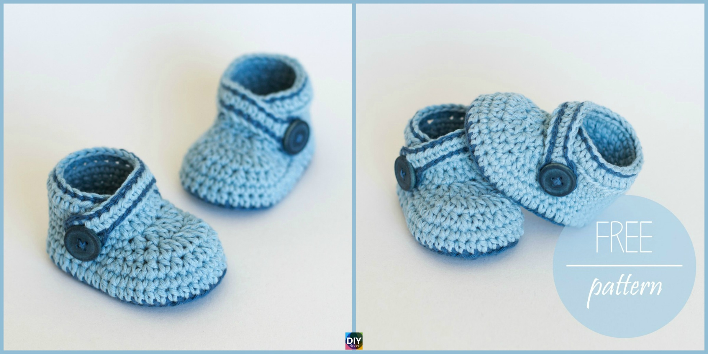 Crochet Blue Whale Baby Booties – Free Pattern & Video