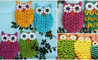diy4ever-Crochet Crocodile Stitch Owls -free & paid pattern/video