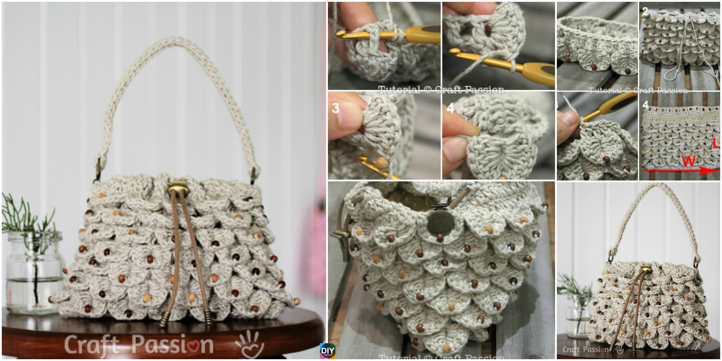 Crochet Crocodile Stitch Purse – Free Pattern