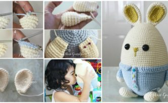 diy4ever- Crochet Egg Ester Bunny - Free Pattern