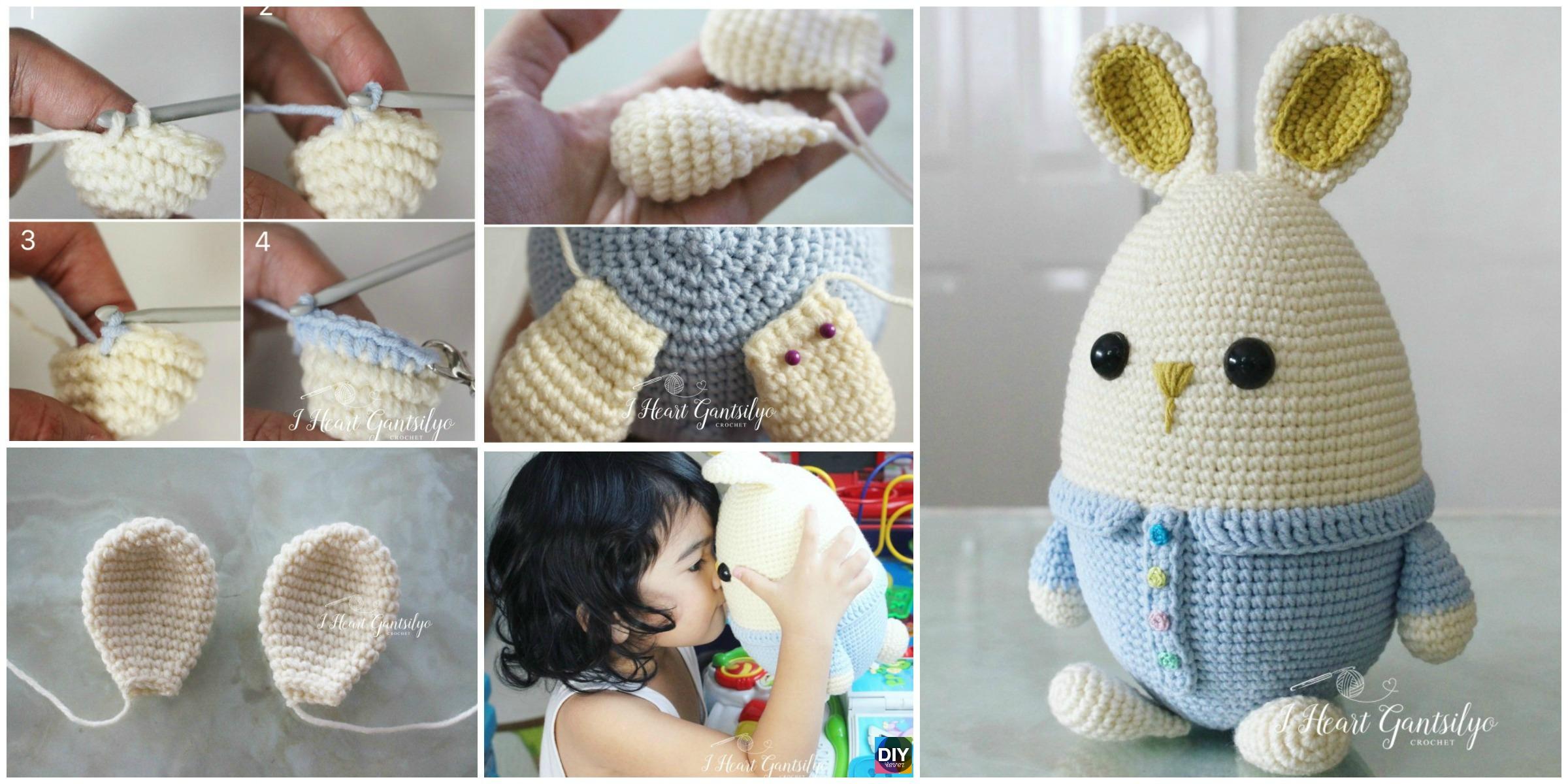 Crochet Egg Ester Bunny – Free Pattern