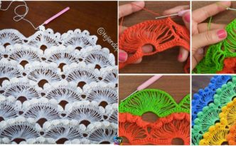 diy4ever- Crochet Fan Stitch-Step-By-Step-Tutorials