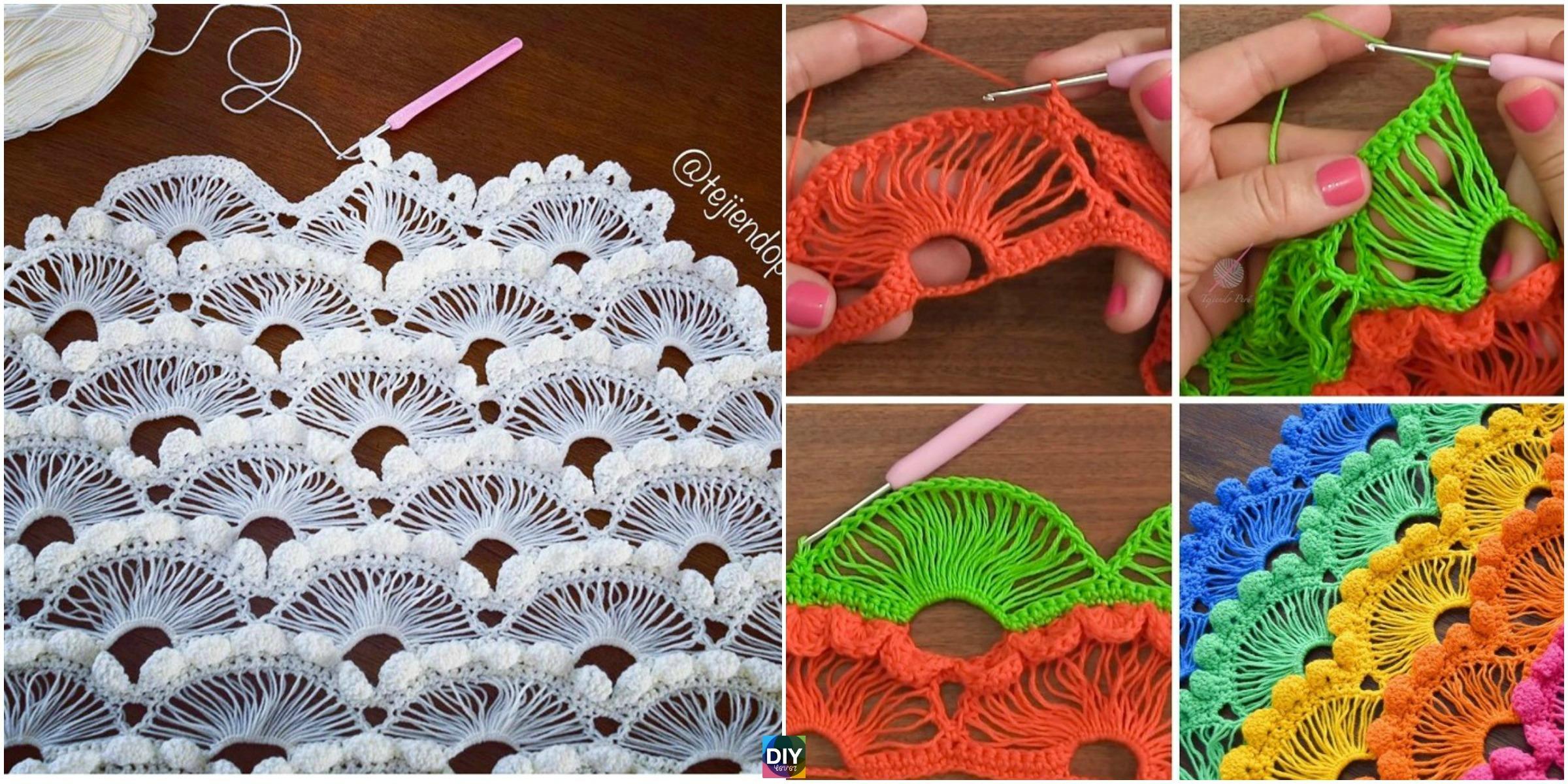 Crochet Fan Stitch – Step By Step Video Tutorial