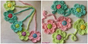 diy4ever- Crochet Flower Bookmark - Free Pattern