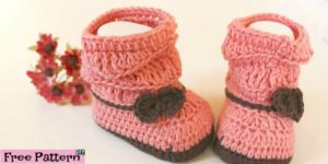 diy4ever- Crochet Peach Baby Booties - Free Pattern & Video