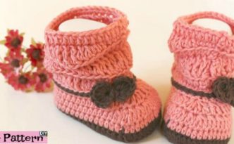 diy4ever- Crochet Peach Baby Booties - Free Pattern & Video