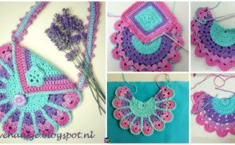 diy4ever- Crochet Peacock Bag - Free Pattern
