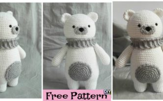 diy4ever- Crochet Polar Bear Amigurumi - Free Pattern