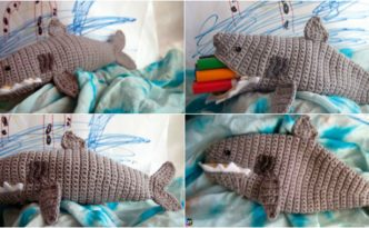 diy4ever- Crochet Shark Time Pouch - Free Pattern