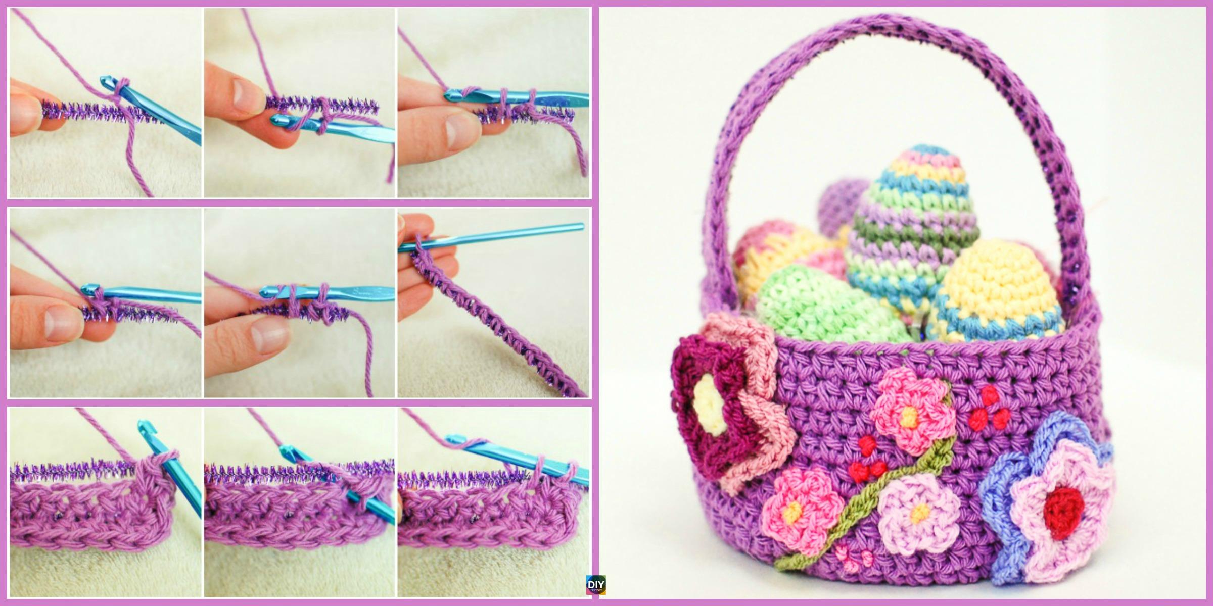 Crochet Spring Basket – Free Pattern