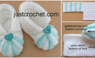 diy4ever- Crochet Striped Baby Booties - Free Pattern