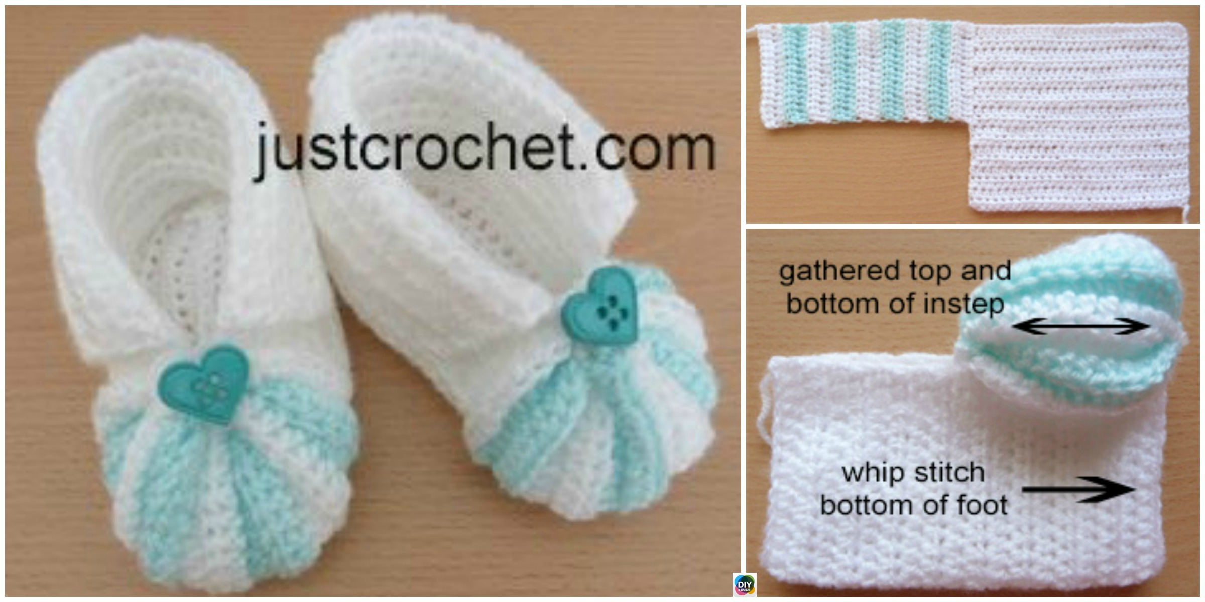 Crochet Striped Baby Booties – Free Pattern