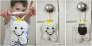 diy4ever-Crochet Tooth Fairy Pillow- Free Pattern
