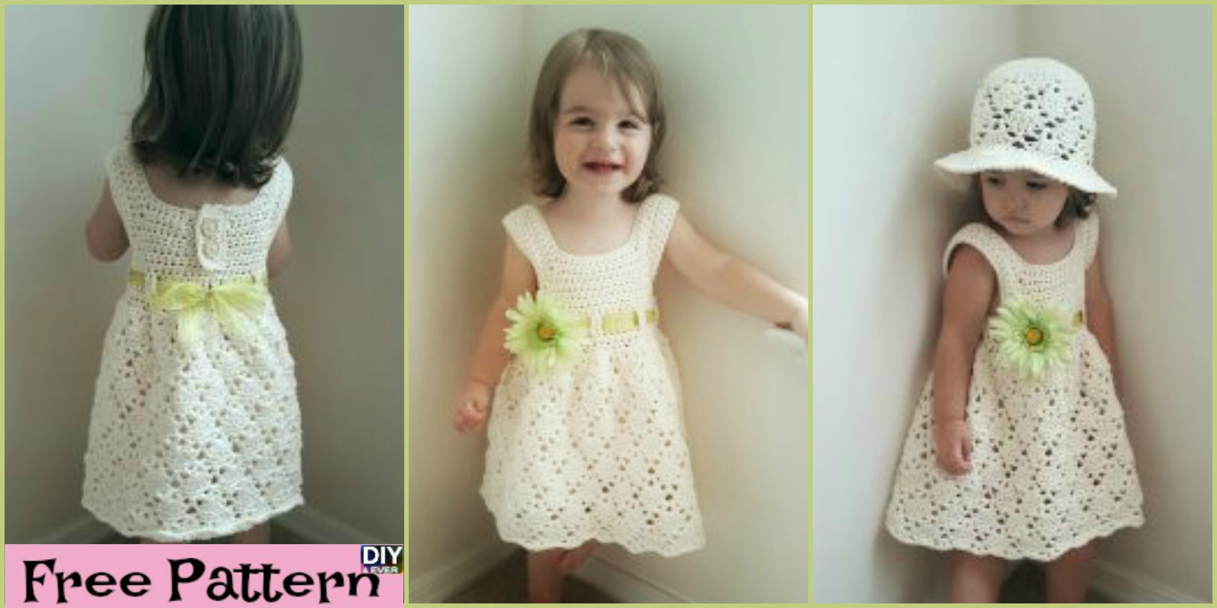 Crochet Vintage Toddler Dress  – Free Pattern