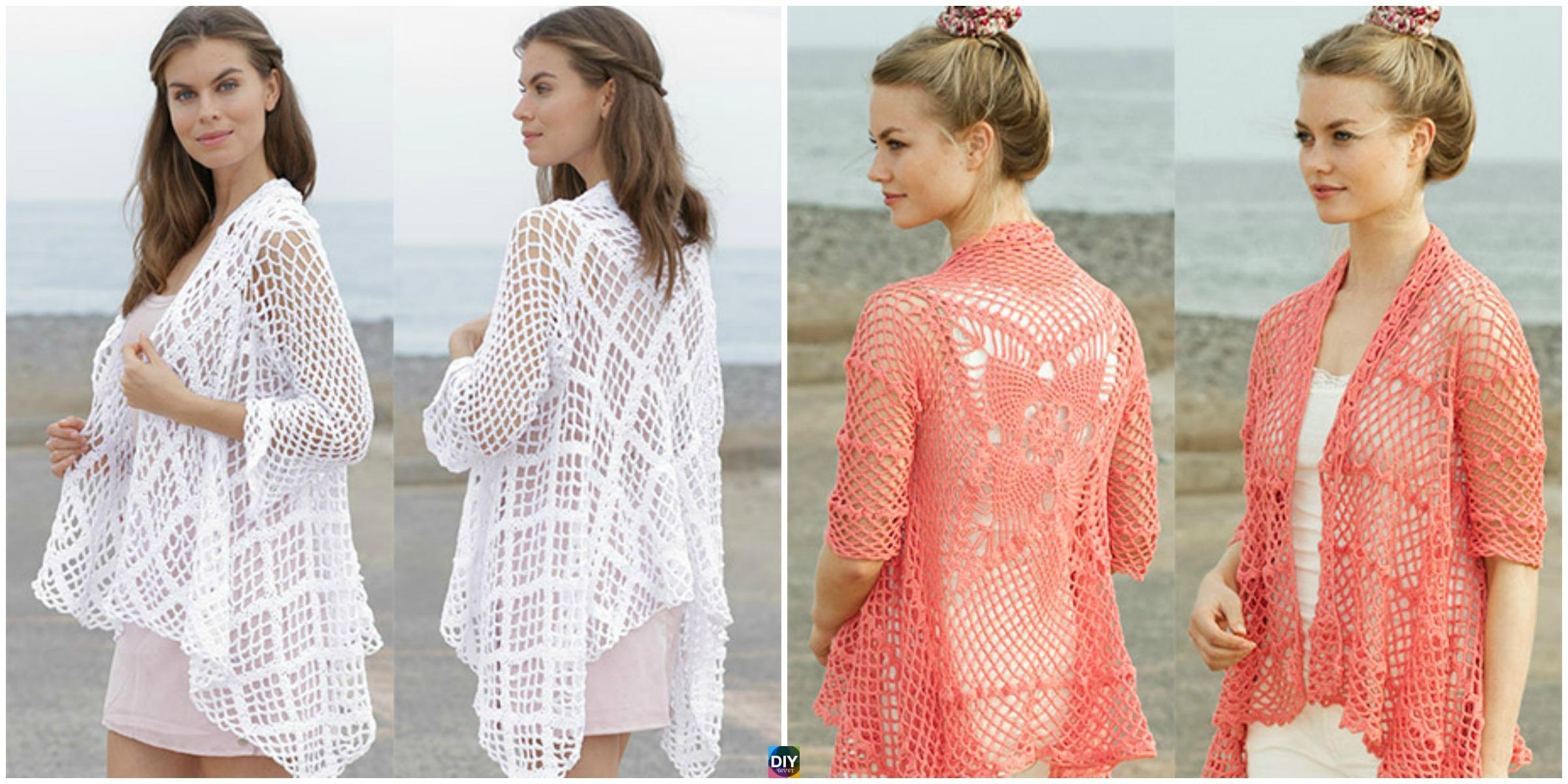 Crocheted Lace Pattern Jacket – Free Patterns