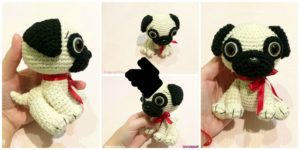 diy4ever- Cute Crochet Pug Dog - Free Pattern