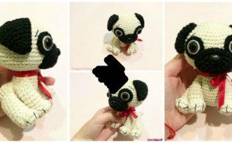 diy4ever- Cute Crochet Pug Dog - Free Pattern