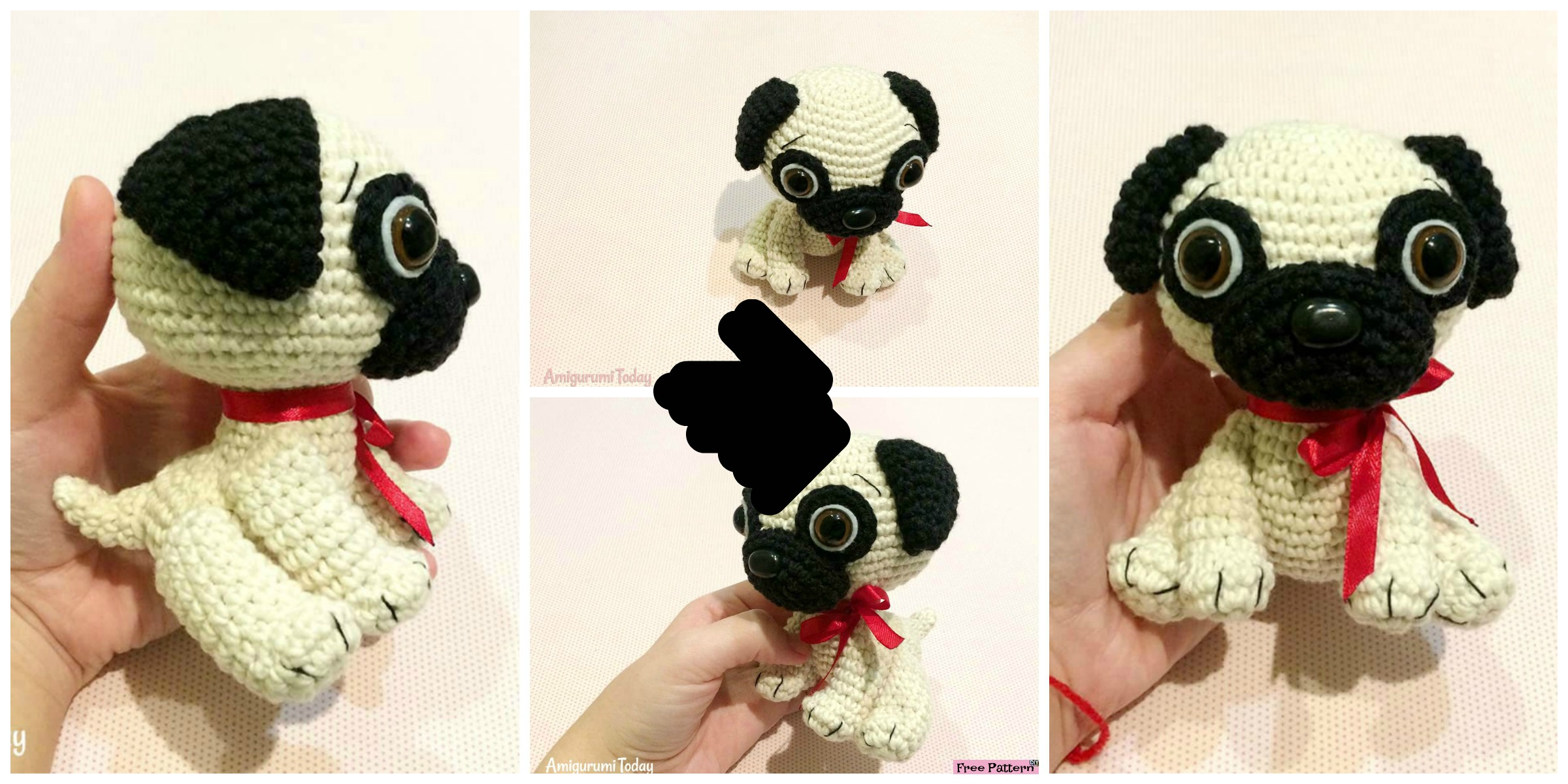 Cute Crochet Pug Dog – Free Pattern