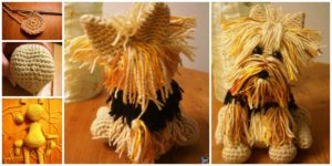 diy4ever- Cute Crochet Yorkie Dog - Free Pattern