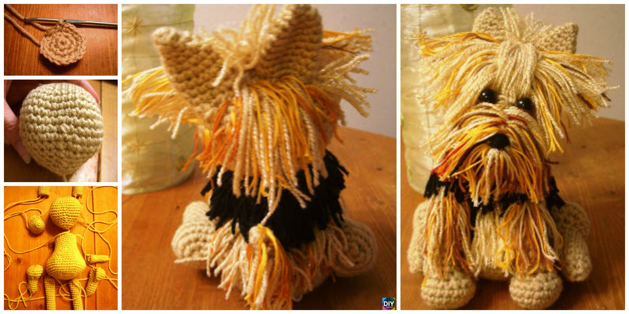 Cute Crochet Yorkie Dog – Free Pattern