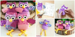diy4ever- Cute DIY Owl Plushies - Free Sewing Pattern