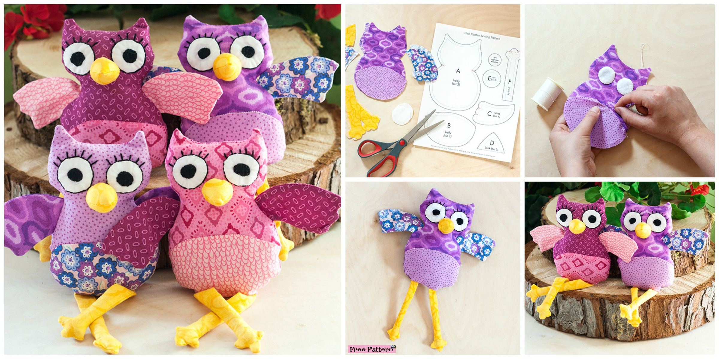 Cute DIY Owl Plushies – Free Sewing Pattern