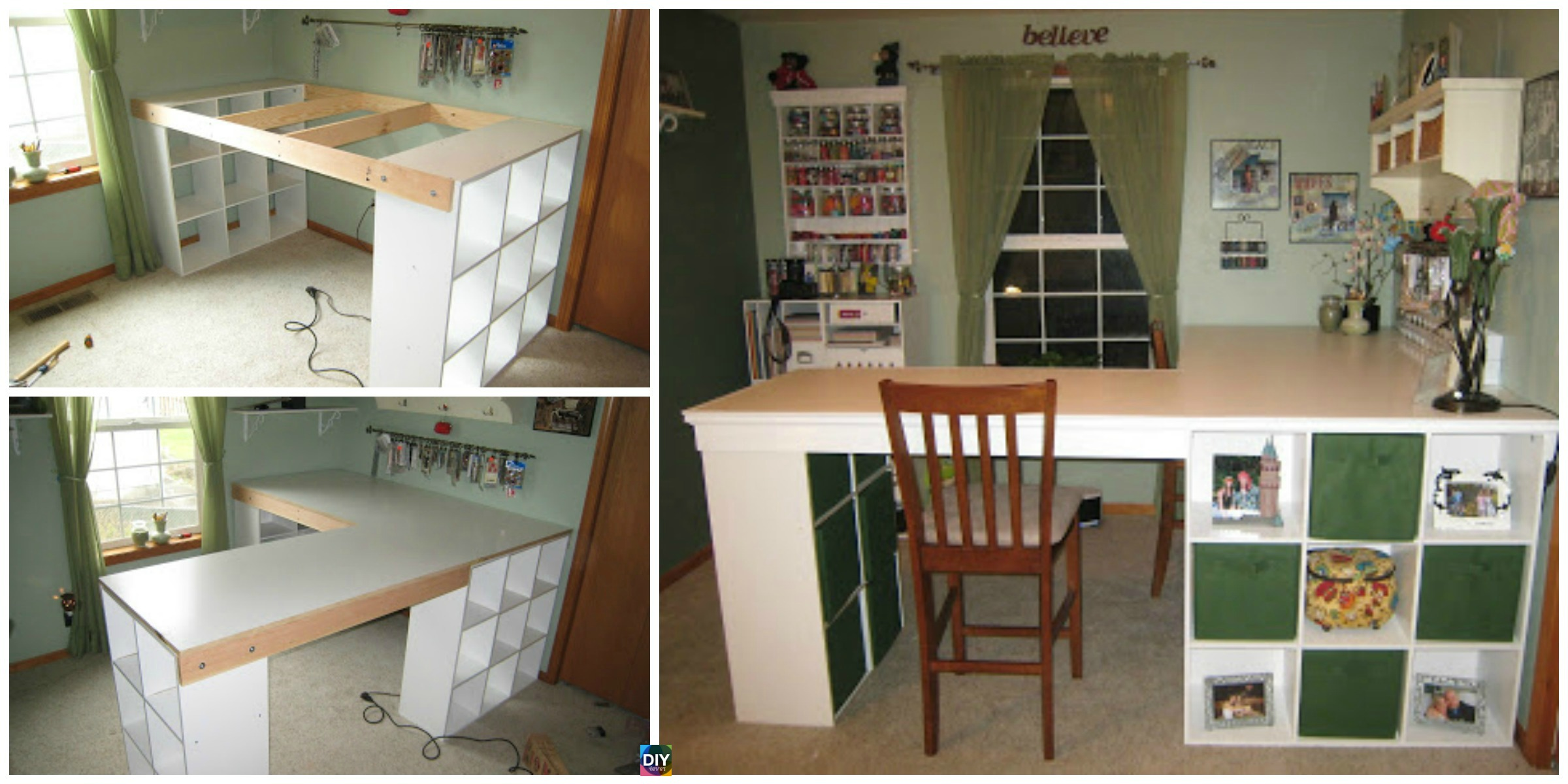 DIY Custom Craft Desk with Storages – Step by Step