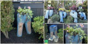 diy4ever-DIY Denim Plant Garden Tutorial
