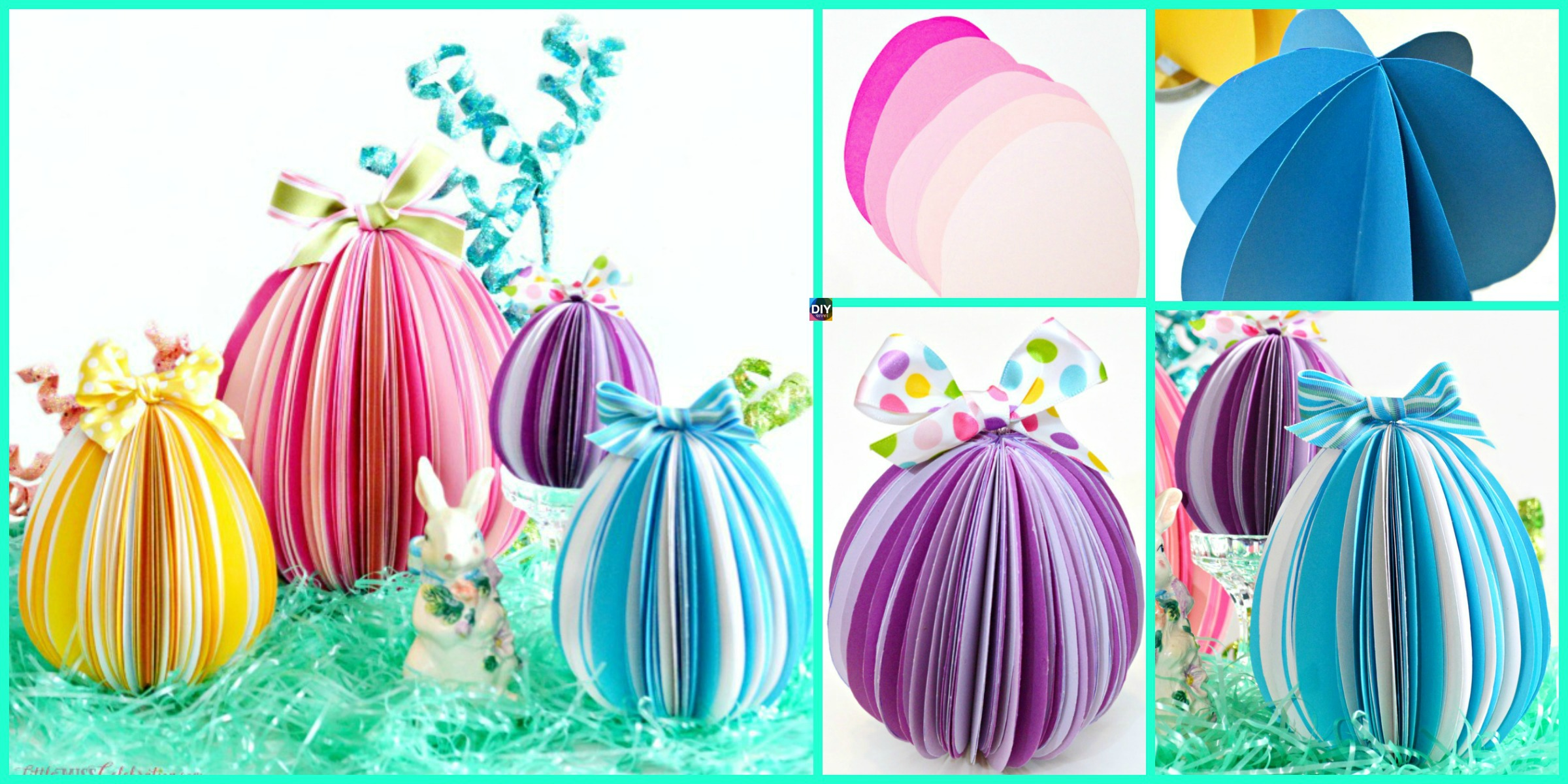DIY Easter Paper Eggs Step by Step Tutorial