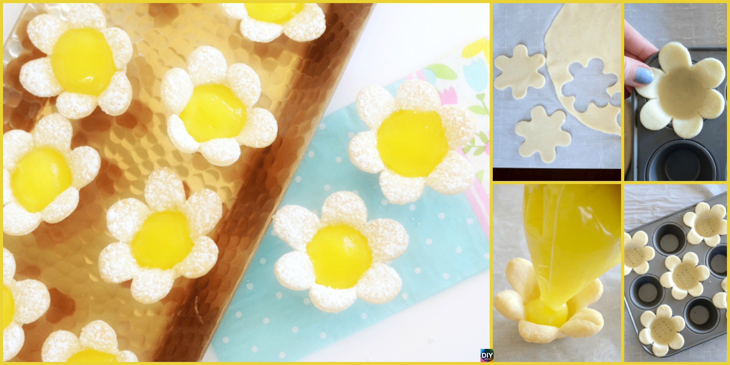 DIY Mini Lemon Flower Tarts Recipe
