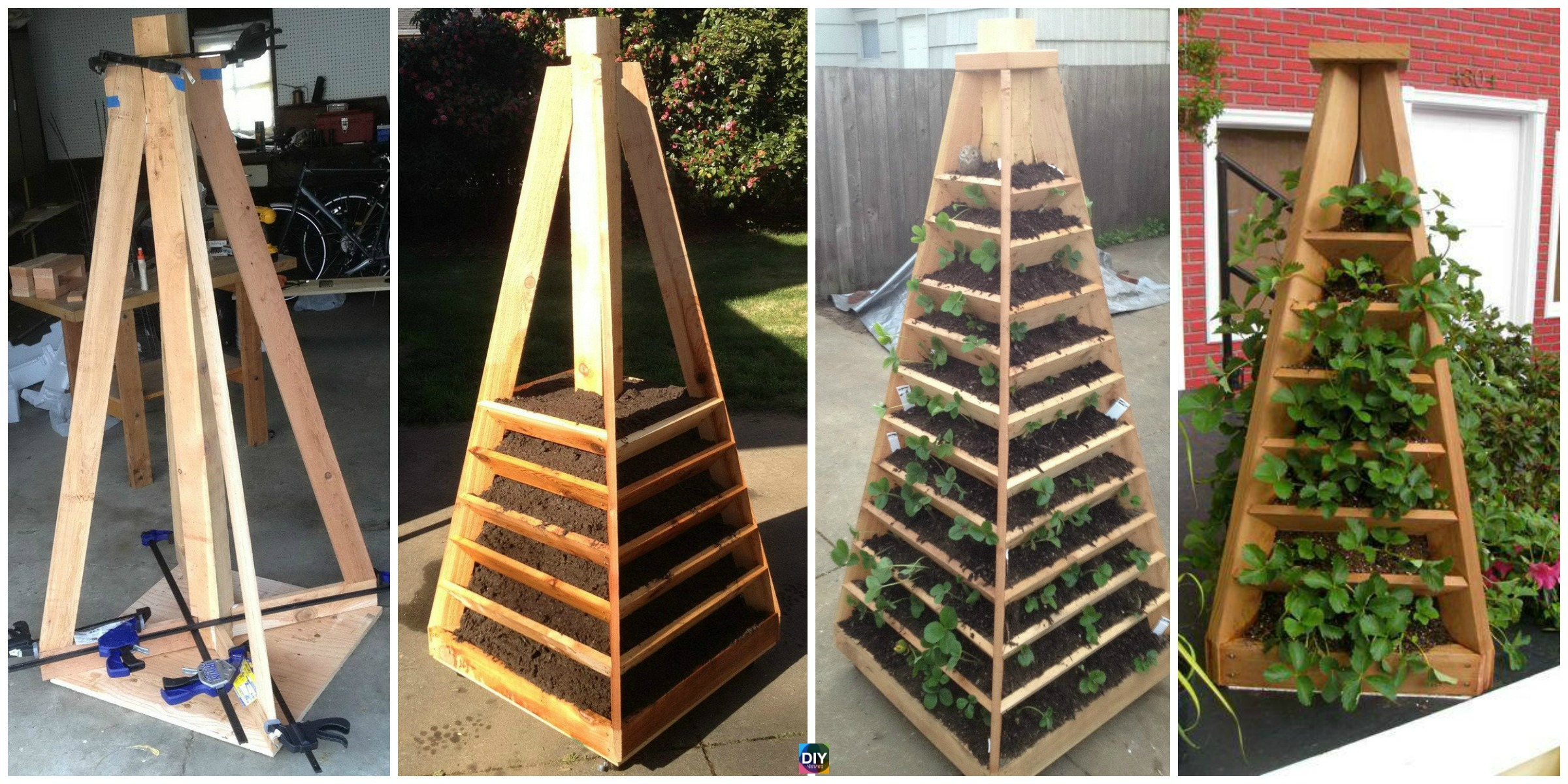 How to DIY Vertical Garden Pyramid Tower