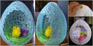 diy4ever-Egg Shaped DIY Easter Basket Tutorial