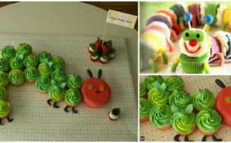 diy4ever- How to DIY Colorful Caterpillar Cupcakes