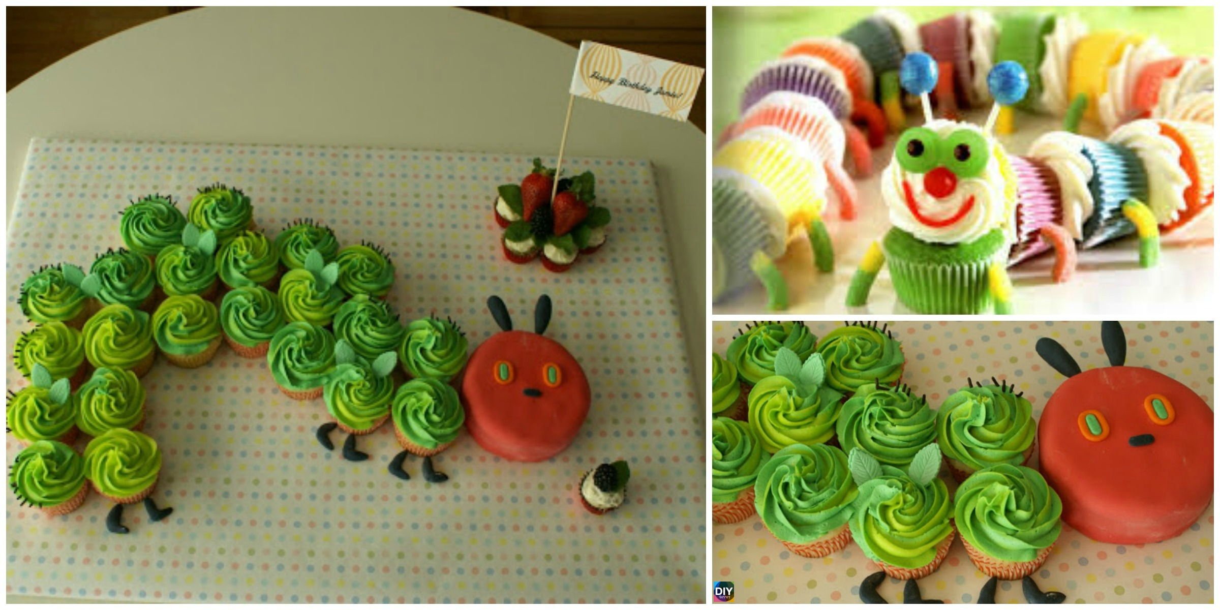 How to DIY Colorful Caterpillar Cupcakes