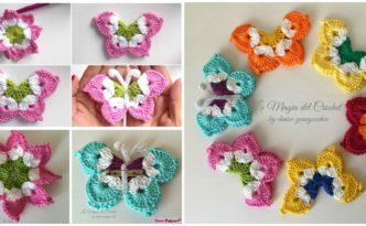 Pretty Crochet Butterflies - Free Pattern