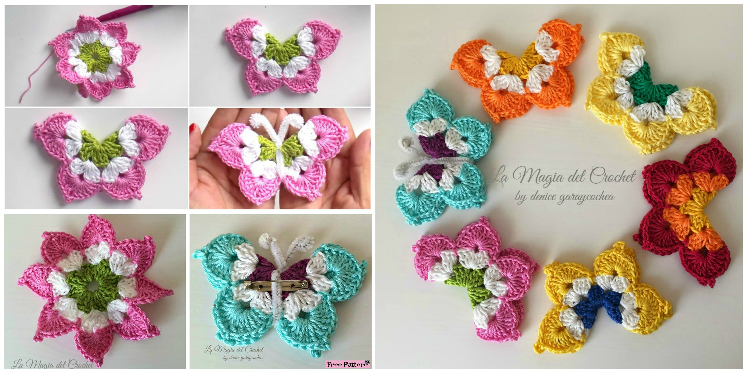 Pretty Crochet Butterflies – Free Pattern