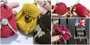 diy4ever- Super Cute Crochet Mini Backpack - Video Tutorial