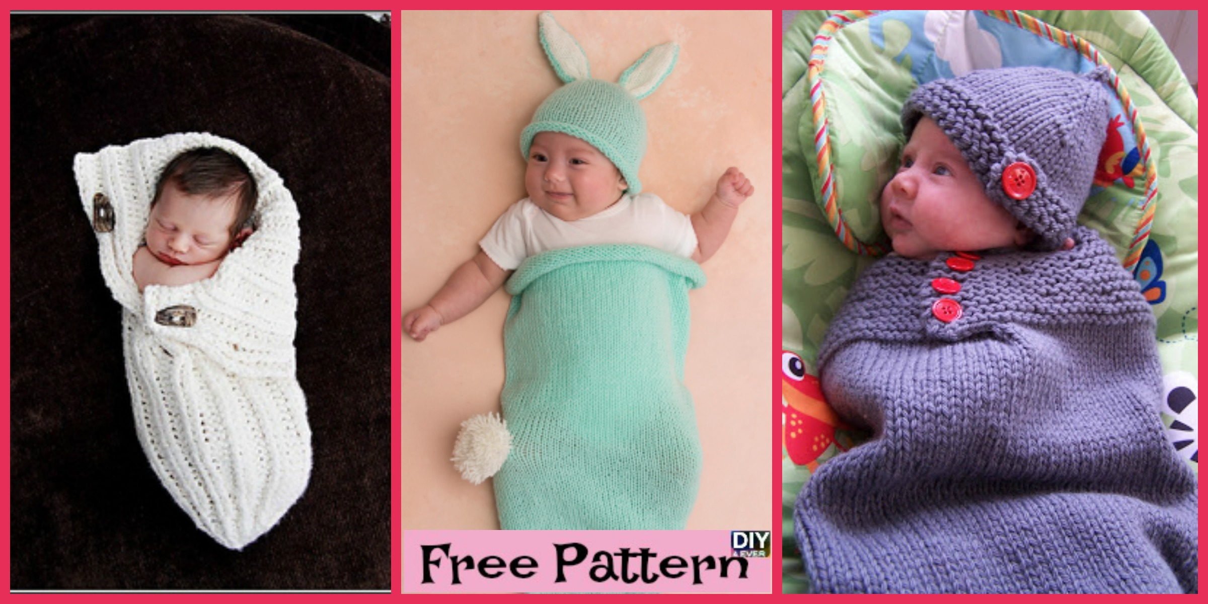 Adorable Knitted Baby Cocoons – Free Patterns