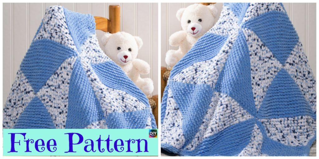 Beautiful Knitted Pinwheel Blanket - Free Pattern - DIY 4 EVER