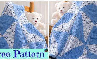 diy4ever- Beautiful Knitted Pinwheel Blanket - Free Pattern