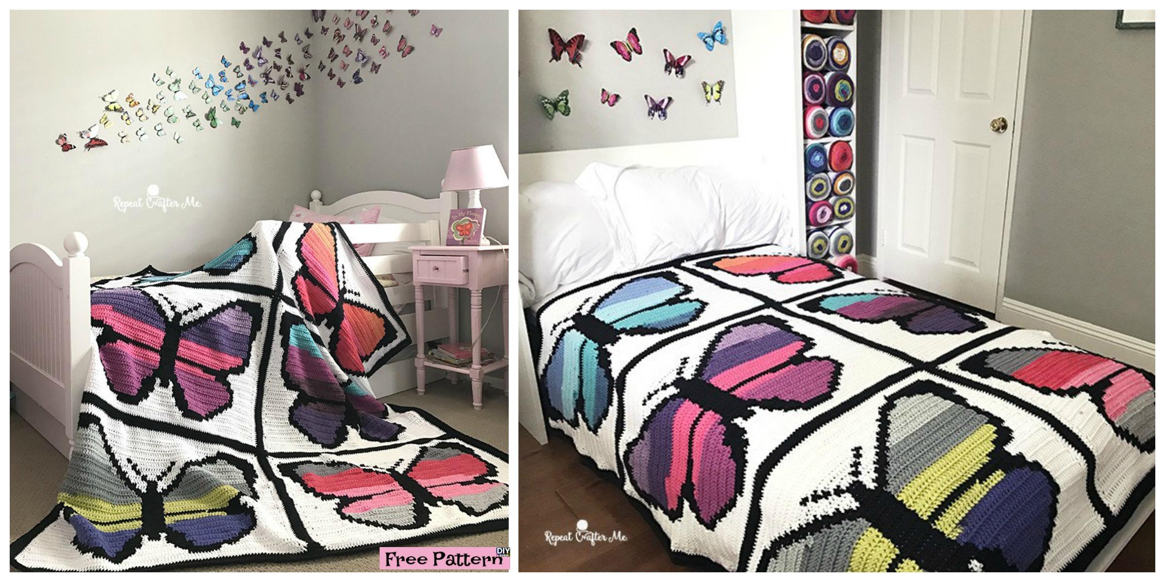 Crochet Butterfly Blanket – Free Pattern