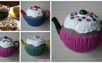 diy4ever- Cute Knitted Fairy Cake Tea Cosy - Free Pattern