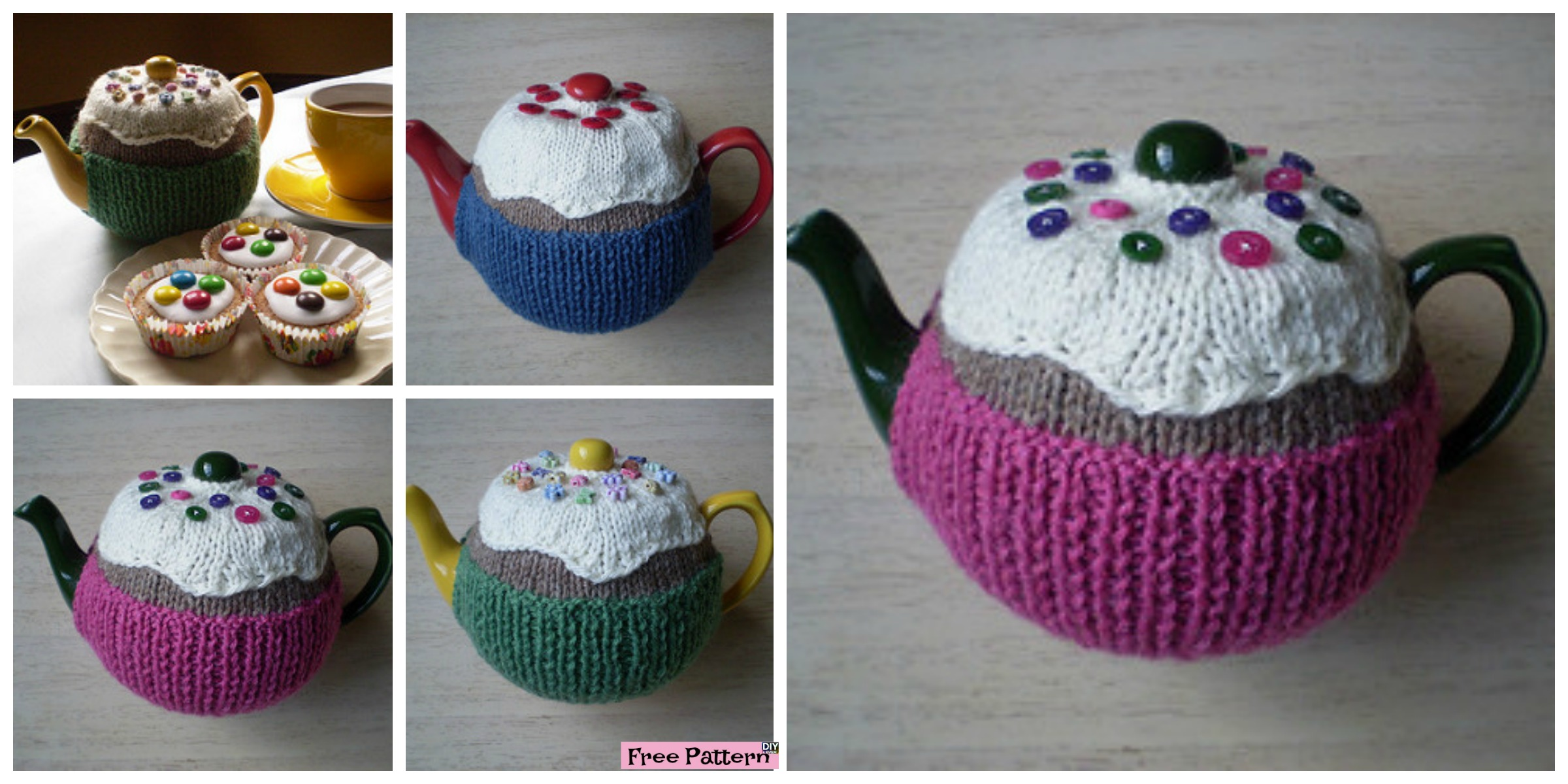 Cute Knitted Fairy Cake Tea Cosy – Free Pattern