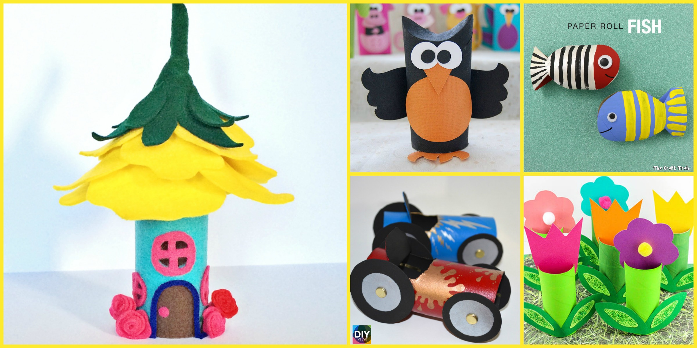 10 Cutest DIY Toilet Paper Roll Crafts – For Kids